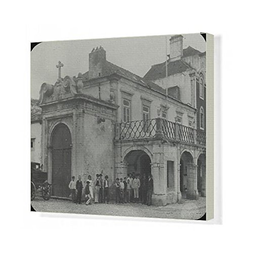 20x16 Canvas Print of Spain and Portugal - sentubal, Municipal building (14372812) by Prints Prints Prints