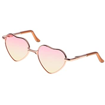 1//6 Lovely Gradient Colored Lens Round Frame Glasses for Blythe Doll or Toy