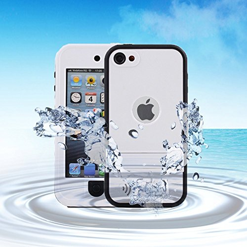 iPod Touch 5 / 6 Case, VEGO Full-Body Waterproof Shockproof Dirtproof Durable Full Sealed Protection Case Cover With Kickstand For Apple Ipod Touch 5/ Touch 6 - White
