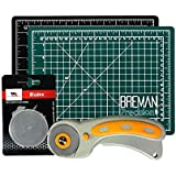 Rotary Cutter & Self Healing Mat Set – Professional 9x12 Double Sided Cutting Mat with Rotary Plus 5 Replacement Blades Making The Ultimate Arts & Crafts Kit for Sewing Quilting & Much More