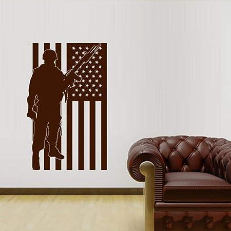 jiuyaomai Bandera Americana Chaleco Soldado Extraíble ...