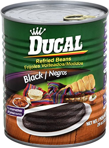 Goya Refried Beans - Goya Foods Ducal Refried Black Beans, 29-Ounce (Pack of 12)