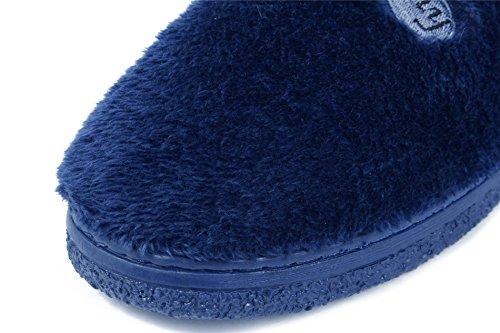 Flat Pantoufles Ageemi Adulte Anti Chaussures Coton Unisex Shoes Marine Mixte AqRwZrq1Ix