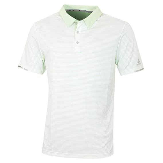 adidas Climachill Tonal Stripe Polo Shirt, Hombre, Verde, XL ...