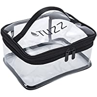 Tsa friendly clear travel Cosmetic Bags with 2 zipper