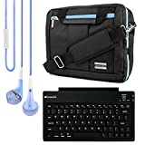 El Prado Collection 3 in 1 Backpack and Messenger Bag for Vulcan Venture 11.6'' Notebook + Bluetooth Keyboard + Headphones (Aqua Blue)