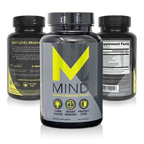 Mind Premium Brain Support Supplement – Memory, Focus Clarity Nootropic – Scientifically Formulated Nutrient Rich Brain Food – No More Brain Fog – Mind Support 120 Veg Capsules