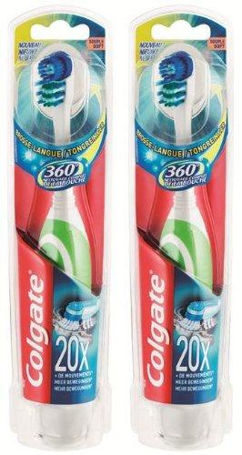 Colgate - 276009 360° - cepillo de dientes a pilas (2 unidades)