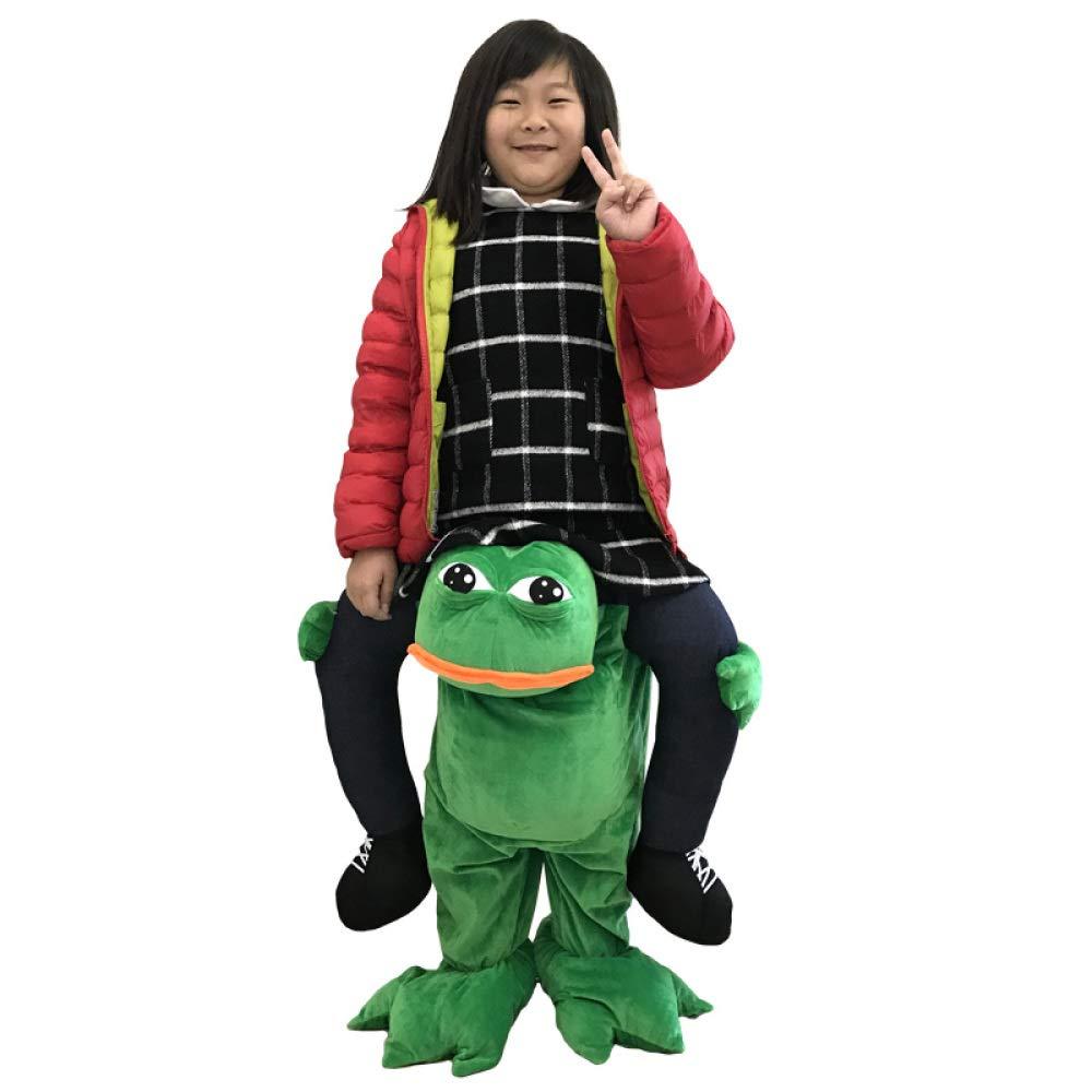 C S[105 YIWANGO Cosplay Costume Magic Pants Funny Animal Back Man Toy Fake Leg Show Movie Props,AM[125135cm]