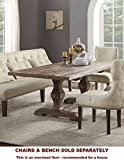 Acme Furniture Inverness Double Pedestal Dining Table, Salvage Oak
