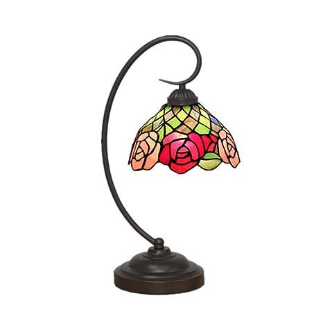 Amazon.com: TopDeng Tiffany estilo vintage E26 lámpara de ...