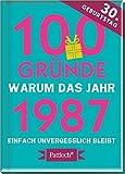 100 Gründe, warum das Jahr 1987 einfach unvergesslich bleibt: zum 30. Geburtstag