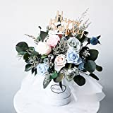 RoseRena Cotton Candy Eternal Roses Bloom Box - Handmade with preserved flower forever roses blossoming for 3 years perfect gift for her