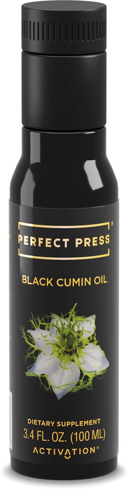 Activation Products, Perfect Press Black Cumin Seed Oil - Vegan, Organic and Gluten Free Pure Nigella Sativa - Digestive Support, Immune System Booster, Loaded with Vitamins B1 B2 B3, 100ml