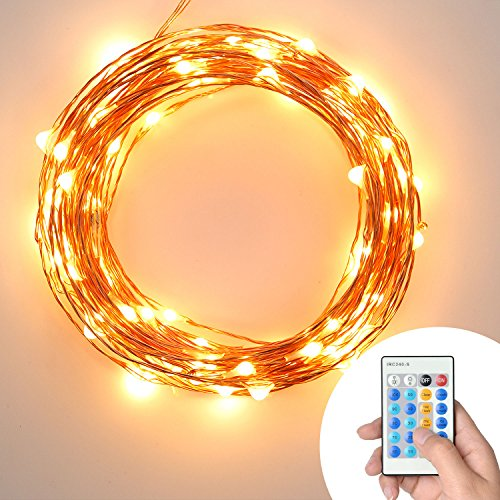 String Lights Dimmable : Dimmable String Lights, [UL Certified Adapter] Amira 33Ft Copper Wire with 100 LEDs Starry ...