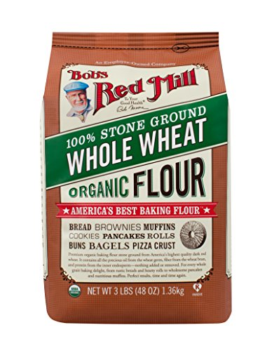 - Bob's Red Mill Organic Whole Wheat Flour, 48-Ounce (Pack of 4)