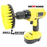Yellow Drill Brush Carpet Brush with Medium Stiffness Bristles by Drillbrush