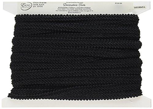 Expo International Alice Classic Woven Braid Trim, 20-Yard, Black