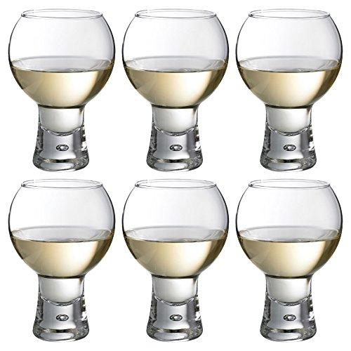 - Durobor Alternato Short Stem Bubble Base Wine Glass - 330ml - Pack of 6 Glasses