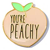 You're Peachy Appreciation Award Lapel Pins, 6 Pins