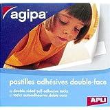 AGIPA Boite de 250 pastilles photo adhésives double face 12x12 mm