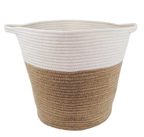 Large Toys Storage Basket for Nursery Or Living Room 16'' x 15'', Jute and Cotton Rope by Monarch Co. by Monarch Co.