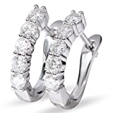 1.6CTW 3.5MM Sterling Silver Huggie Earrings Each 0.16CT Moissanite''U'' Hoop Earrings VVS for Women (1.6)