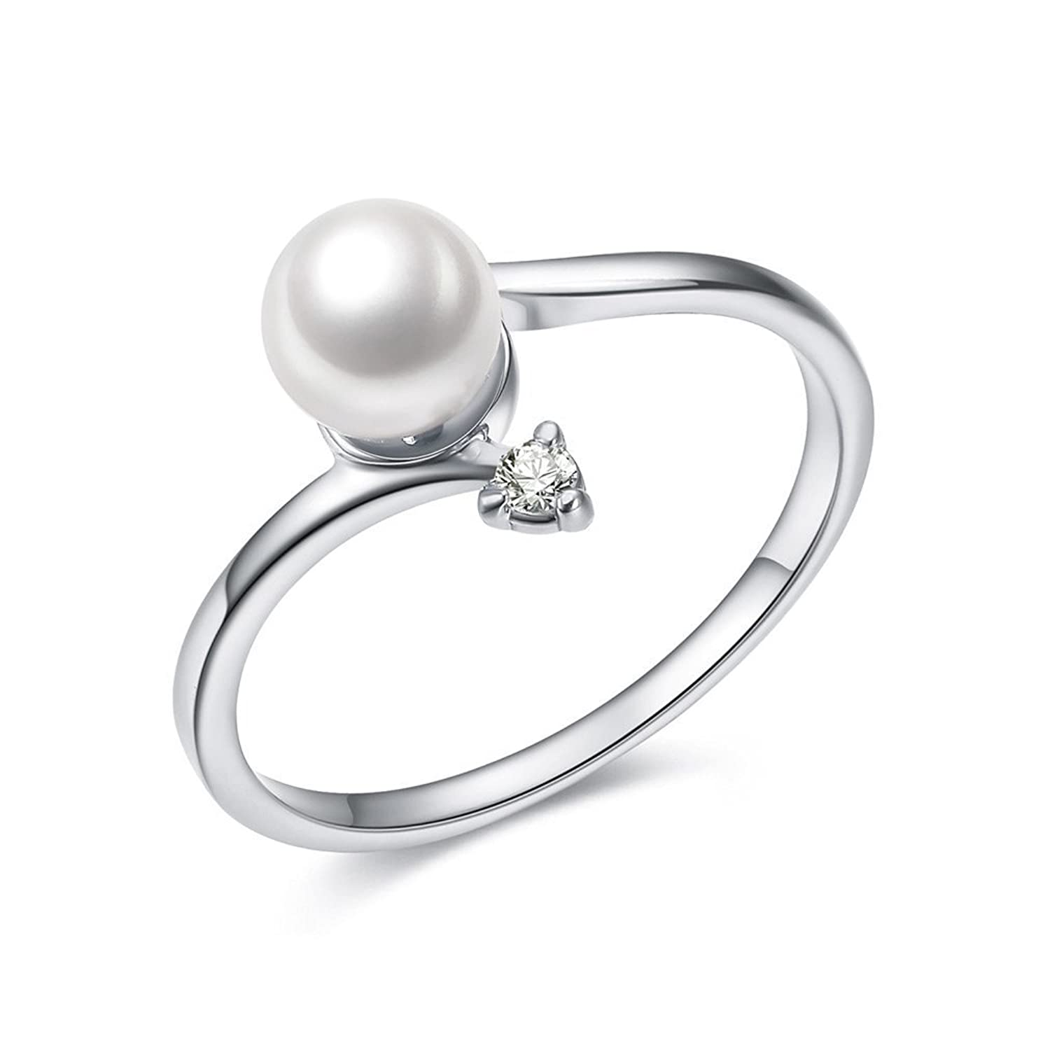 plated for gold women white romantic pearl rings ring wholesale round rose p