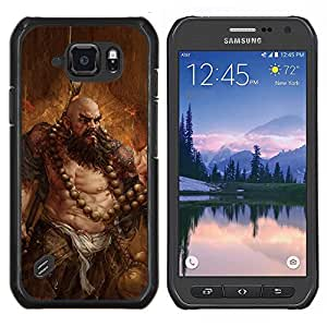 EJOOY---Cubierta de la caja de protección para la piel dura ** Samsung Galaxy S6Active Active G890A ** --ARTE BARBARIAN
