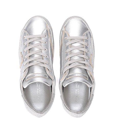 Sneaker Argento Paris In Model E Pelle Glitter Philippe 6pxgqg