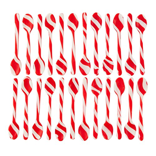 Wilton Peppermint-Flavored Candy Cane Candy Spoons, Multipack of 2