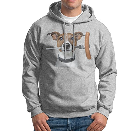 JXMD Men's Jack Russell Terrier Sweater Ash Size M (German Shepherd Toaster compare prices)
