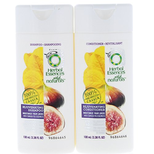 2 Pk. Herbal Essences Wild Naturals Shampoo & Conditioner 3.