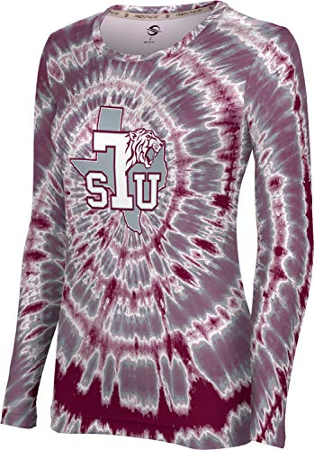 ProSphere Texas Southern University Women's Long Sleeve Tee - Tie Dye 100A8 Maroon and Gray