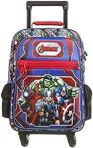 Mala Escolar com 4 Rodinhas G, Marvel Os Vingadores, DMW Bags, 11607, Colorida