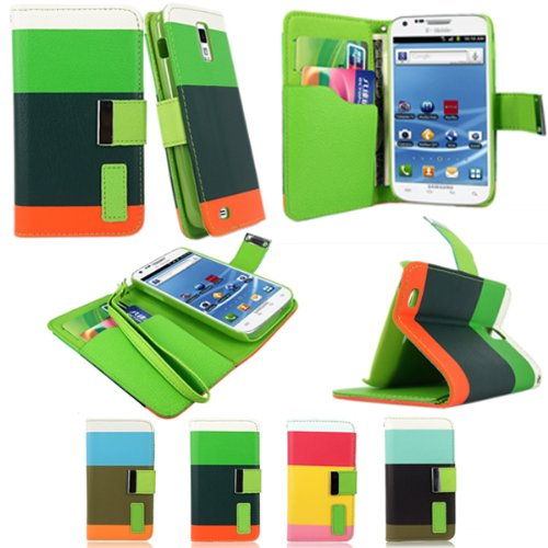 Cellularvilla® Wallet Case for Samsung Galaxy S2 T989 T-mobile Pu Leather Wallet Card Flip Open Case Cover Pouch.