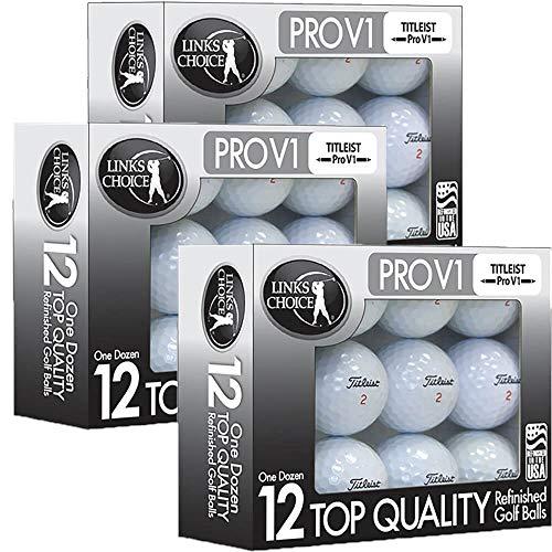 Titleist 36 ProV1x AAAAA Mint Refinished Used Golf Balls Black Foil Pack ()