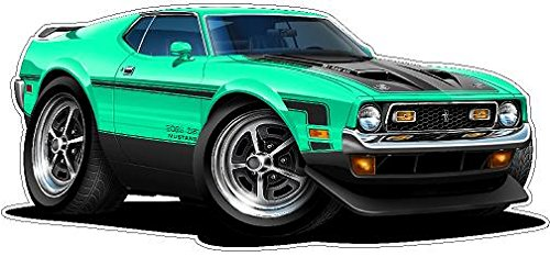 1971 Mustang Boss 351 WALL DECAL 2ft long Reusable Peel Stick Classic Cars Vinyl Print Stickers Home Boys Children Men Bedroom Decor