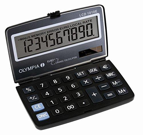 Olympia LCD 1010E - Calcolatrice, colore: Blu LCD 1010 E