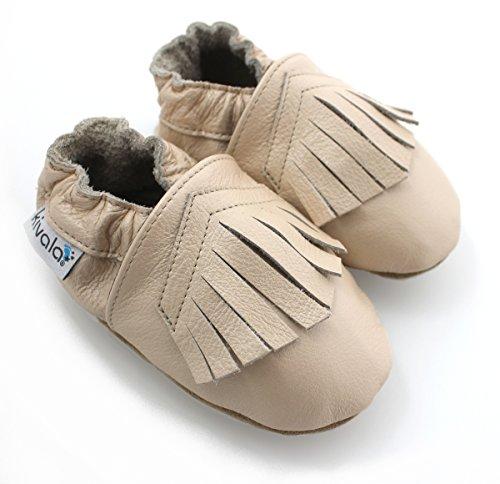 Kivala - Chaussons cuir souple Camel