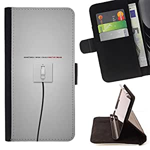 KingStore / Leather Etui en cuir / Apple Iphone 4 / 4S / Interruptor encendido / apagado
