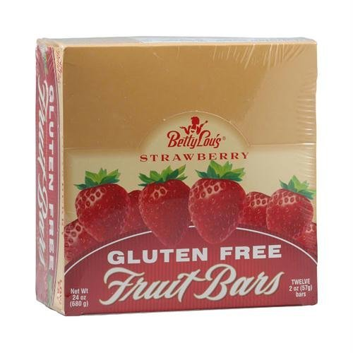 BETTY LOU'S FRUIT BAR,STRAWBERRY,WF, 2 OZ CASE_12 by Betty Lou's