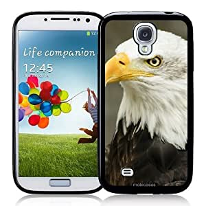 Cool Painting Bald Eagle Predator - Protective Designer BLACK Case - Fits Samsung Galaxy S4 i9500