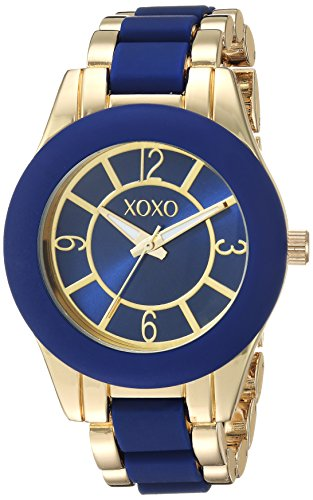 Ladies Two Tone Quartz Watch (XOXO Women's Quartz Metal and Alloy Casual Watch, Color:Two Tone (Model: xo266))