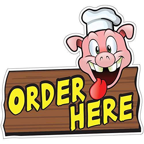 SignMission Order Here Pig Sign 24