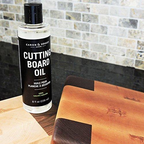 Caron & Doucet - Cutting Board & Butcher Block Bundle: 2 items - 1 Cutting Board & Butcher Block Oil, 1 Cutting Board & Butcher Block Wax. 100% Plant Based (8oz Bullet) by Caron Doucet Cuisine (Image #4)