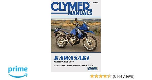 kawasaki klr650 2008 2017 clymer motorcycle haynes publishing rh amazon com 2008 klr 650 owners manual pdf 2009 KLR 650