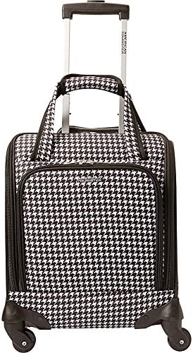 American Tourister Lynnwood 16 Inch Underseat Spinner Carry-On Luggage With Wheels – Houndstooth Dalmation Black