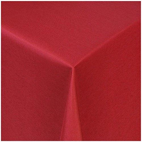 TEXMAXX Damast Tischdecke Maßanfertigung im Uni-Design in wein-rot 130x320 cm eckig, weitere Längen und Farben wählbar