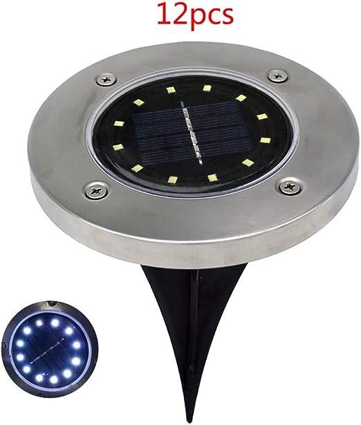 12 LED Solar Power Buried Light Underground Lamp Path Way Lawn Waterproof Garden